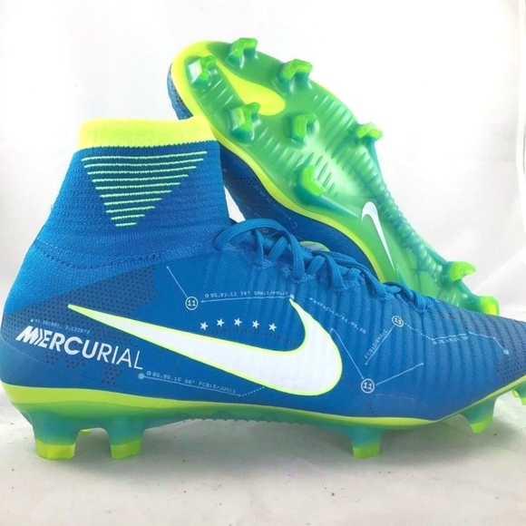 cf956adf697 Nike Mercurial Superfly V NJR FG Neymar Blue Cleat